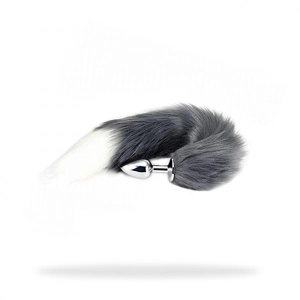 Fuchsschwanz Analplug Wolf Tier grau